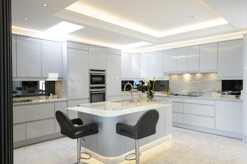 Light Grey Gloss Kitchen Doors