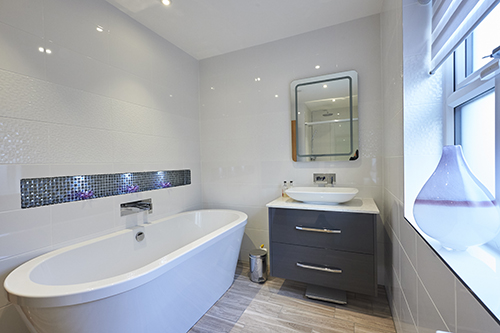 Neutral Tones Family Bathroom Blackpool